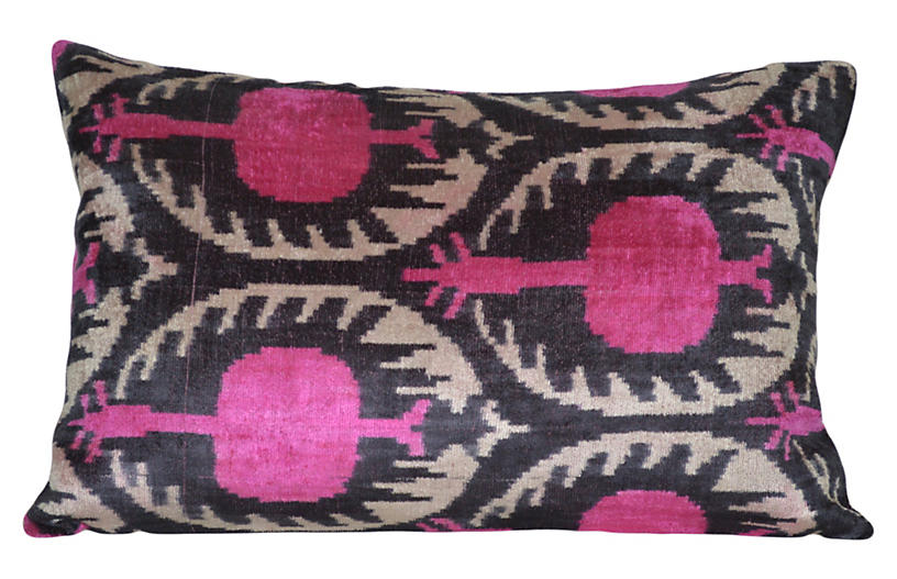 Jolene 16x24 Silk Pillow, Pink