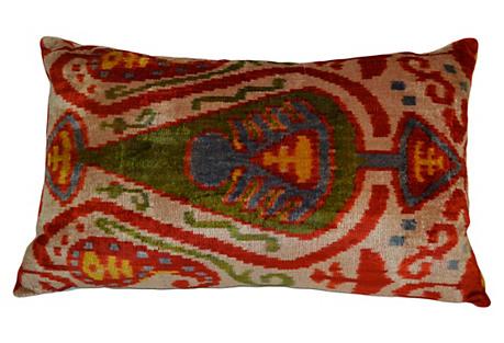 Liza 16x24 Silk Pillow, Red