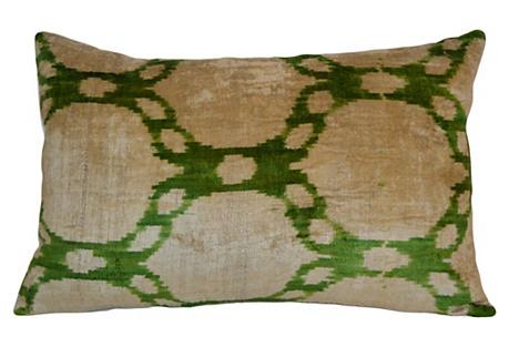 Maggie 16x24 Silk Pillow, Green