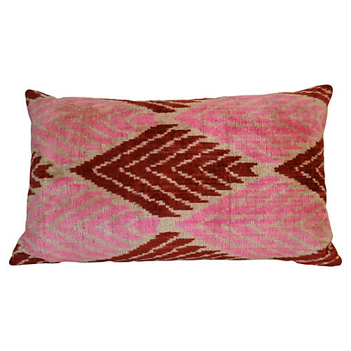 Pippa 16x24 Silk Pillow, Pink