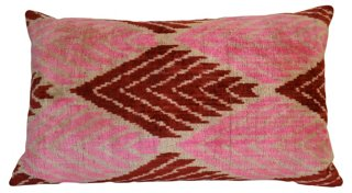 Pippa 16x24 Silk Pillow, Pink - Come get ideas to Steal this Look: Laid Back Cali Slightly Boho Chic in HOME AGAIN With Reese Witherspoon.