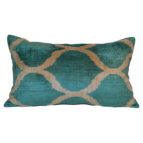 Serenad 16x24 Ikat Pillow, Blue