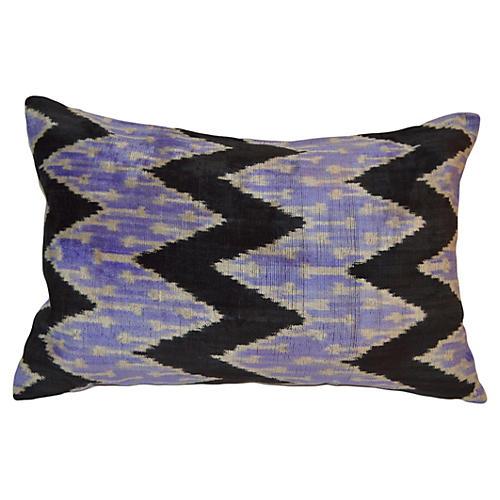 Meral 16x24 Ikat Pillow, Purple