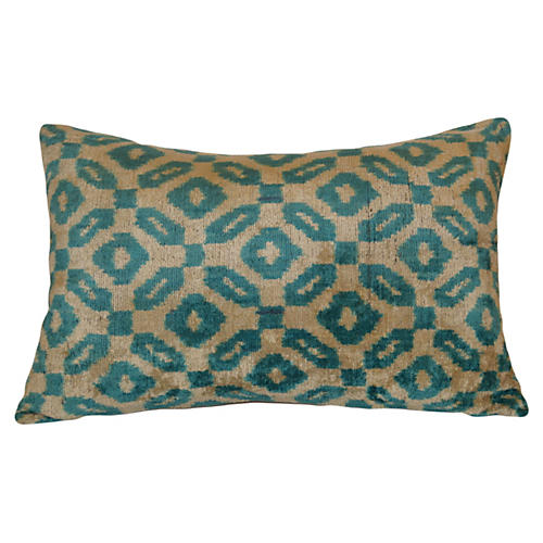 Afar 16x24 Ikat Pillow, Blue