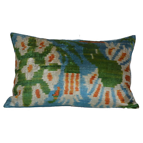 Nota Ikat 16x24 Pillow, Green