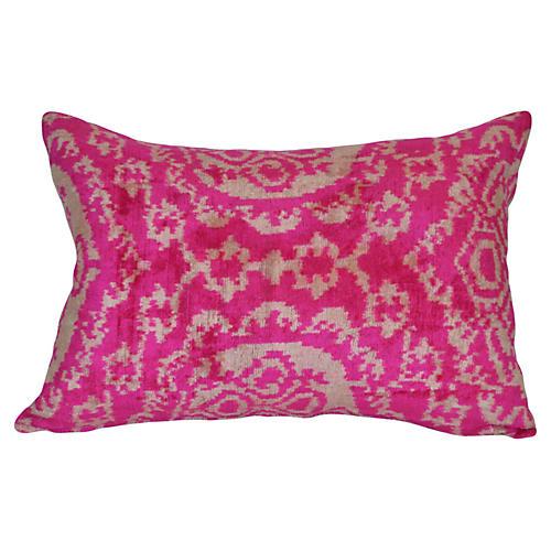 Sila Ikat 16x24 Pillow, Pink