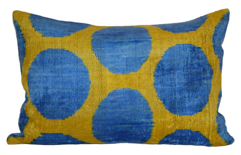Lya Ikat 16x24 Pillow, Yellow