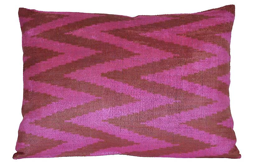 Nava Ikat 16x24 Pillow, Pink
