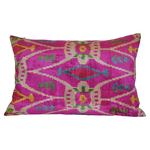 Livia Ikat 16x24 Pillow, Pink