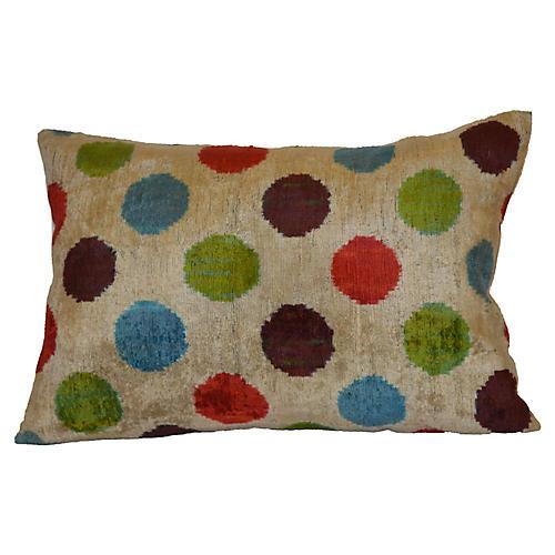 Liana 16x23 Pillow, Beige Velvet