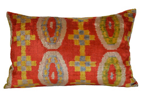 Bella 16x23 Silk Velvet Pillow, Orange