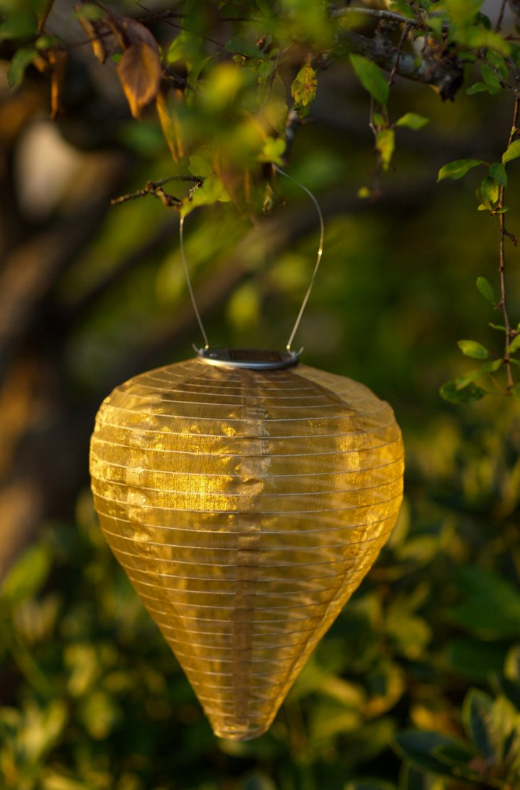"12"" Solar Drop Lantern, Bronze"