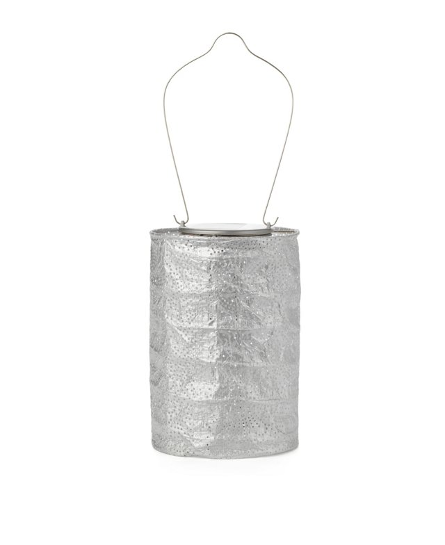 """7"""" Solar Stella Lantern, Silver"""
