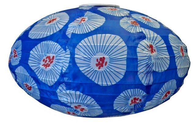 "14"" Soji Solar Lantern, Blue"