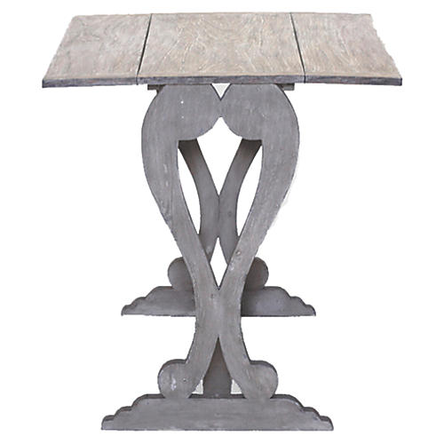 """Nathalie 48"""" Console Table, Gray"""