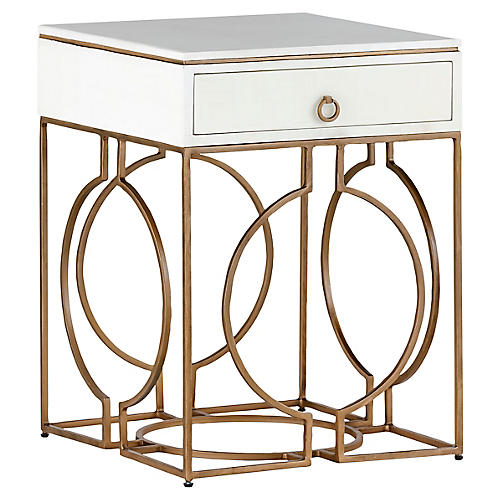 Cedric Nightstand, White