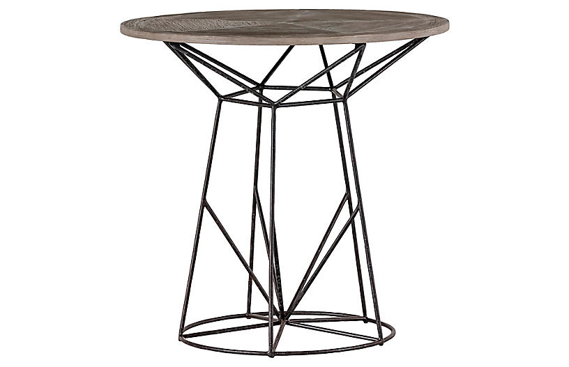 Charlie Round Side Table, Gray