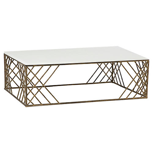 Cassidy Coffee Table, White
