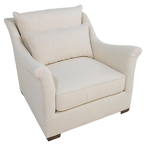 Westley Club Chair, Zulu Vanilla