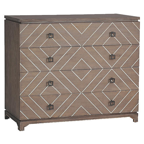 Terrance 4-Drawer Dresser, Graywash