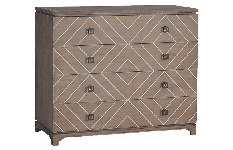 Terrance 4-Drawer Dresser, Graywash