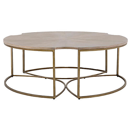 Thomasville Oval Coffee Table: Coffee Tables - Living Room - Furniture