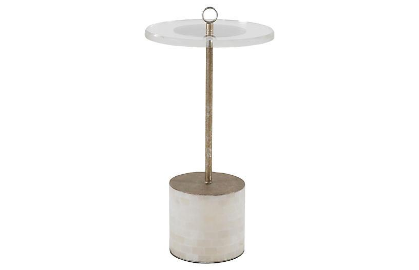Lexi Acrylic Side Table, Clear