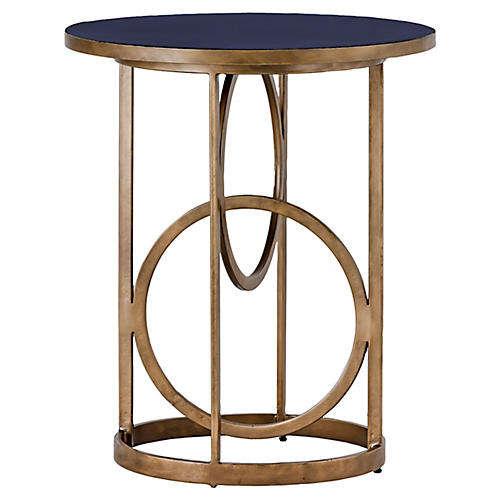 Jackie Side Table, Navy