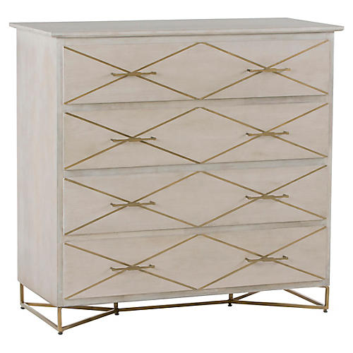 Viola 4-Drawer Dresser, Graywash