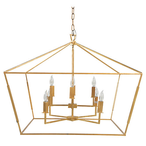 Adler 8-Light Chandelier, Antiqued Gold