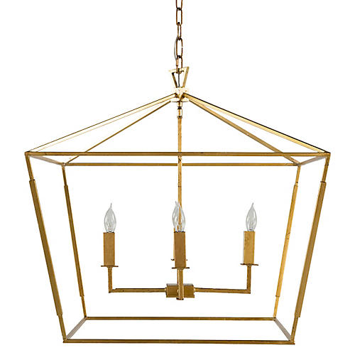 Adler 4-Light Chandelier, Antiqued Gold