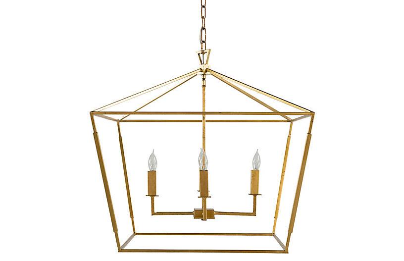 Adler 4-Light Chandelier, Antiqued Gold