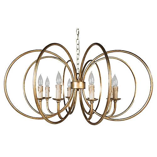 Alta Chandelier, Antiqued Gold