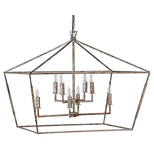 Amelia 8-Light Chandelier, Silver