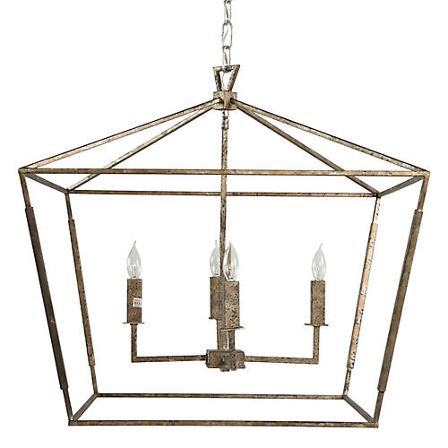 Amelia 4-Light Chandelier, Silver