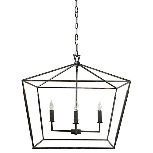 Arnold 4-Light Chandelier, Bronze