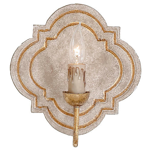 Irving Sconce, Distressed Ivory