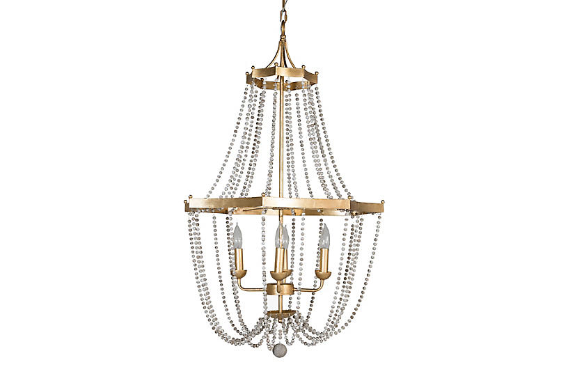 Whitney Chandelier, Gold