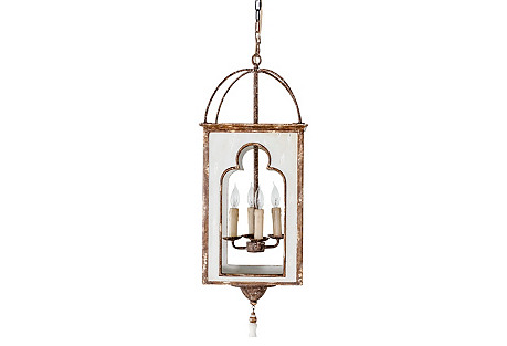 Jenny Lantern, Antiqued White