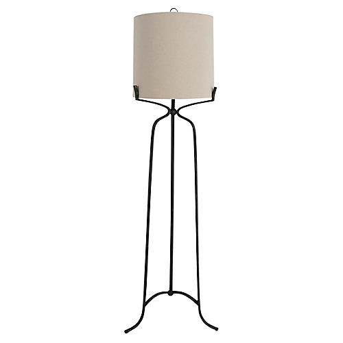 Elena Floor Lamp, Antiqued Bronze