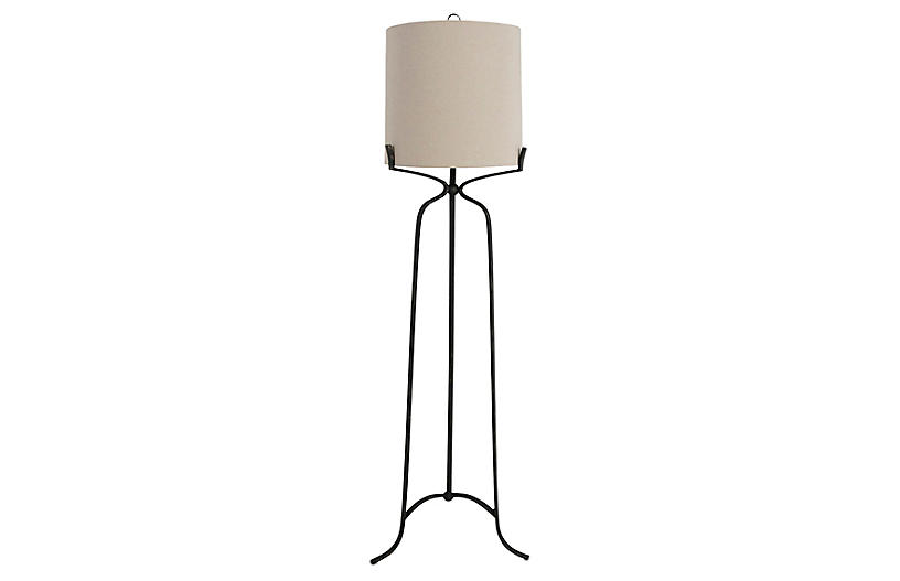 Elena Floor Lamp, Antiqued Bronze