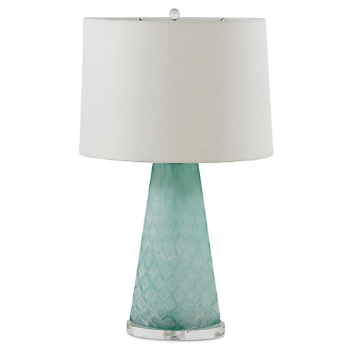 Chloe Table Lamp, Rustic Mint