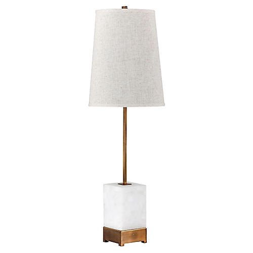 Geneva Table Lamp, Antiqued Brass