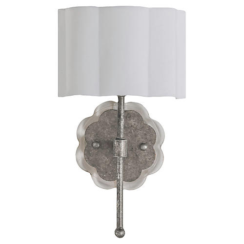 Shirley Sconce, Champagne Silver
