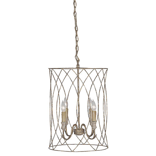 Mia 4-Light Chandelier, Antiqued Gold