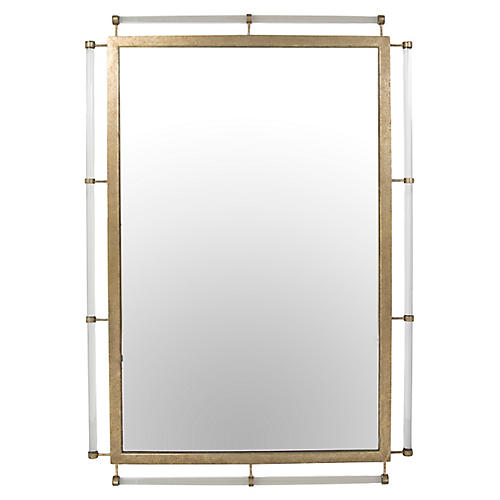"Diana 32""x46"" Wall Mirror, Champagne"