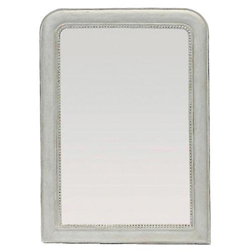 """Kathleen 39""""x49"""" Wall Mirror, White"""