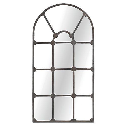 "Drake 35""x70"" Wall Mirror, Aged Iron"
