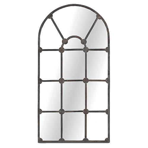 "Drake 35""x70"" Wall Mirror, Aged Iron"