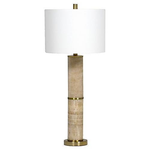 Solomon marble table lamp gold brass gabby
